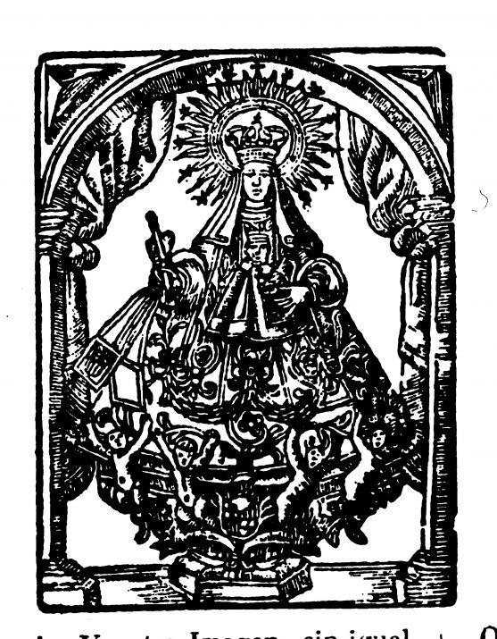 La Mare de Déu de la Mercè de Tarragona de 1815/16 als goigs impresos al c. Major per Miquel i Joaquim Puigrubí. Cedida: Institut Municipal d'Història de Barcelona