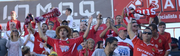 6.020 espectadors al Nou Estadi que van marxar sense els possibles dubtes que havia generat l'equip a Elx. Foto: Nàstic