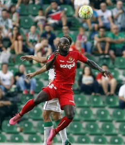 Achille Emana no va ser aquell jugador determinant d'altres partits. Foto:LFP