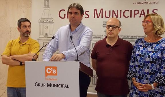 Grup municipal de Ciutadans a l'ajuntament de Reus (foto: Nació Digital)