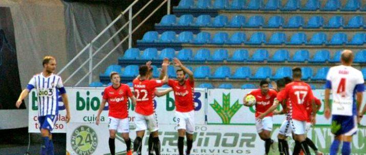 Álex López i Xisco Muñoz es van estrenar com a golejadors. Xisco debutava aquesta temporada. Foto:LFP