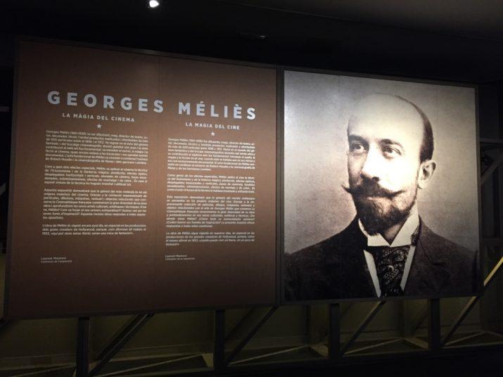 Un dels pannells de l'exposició dedicada a Méliès al CaixaForum Tarragona (foto: Tarragona Turisme)