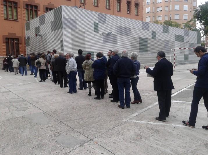 Cues per votar el 9 de novembre de 2014, una jornada clau en el procés pel dret a decidir que han analitzat Xavier Balcells i Anna Mateo (foto: Fet a Tarragona)