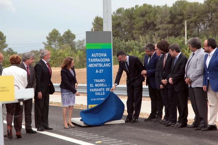 Inauguració del tram El Morell-Valls de l'A-27 fa uns mesos (foto: JUDIT FERNÁNDEZ)