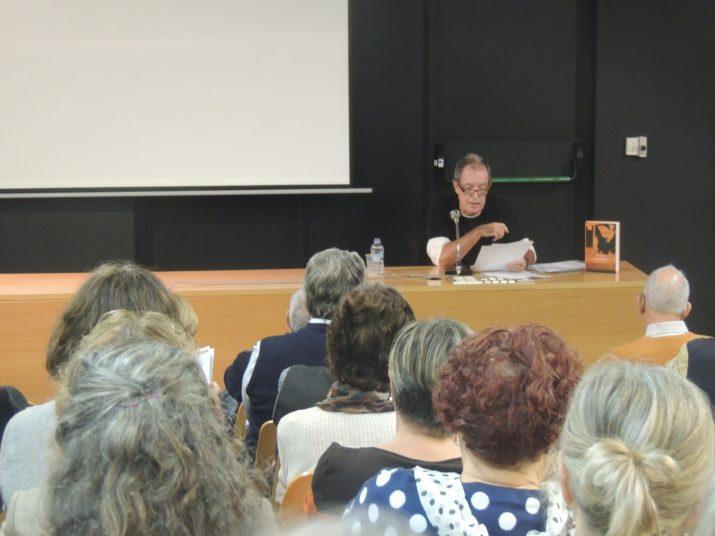 Miquel de Palol, durant la conferència, el passat dijous 12 de novembre, al Museu Nacional Arqueològic de Tarragona (MNAT).