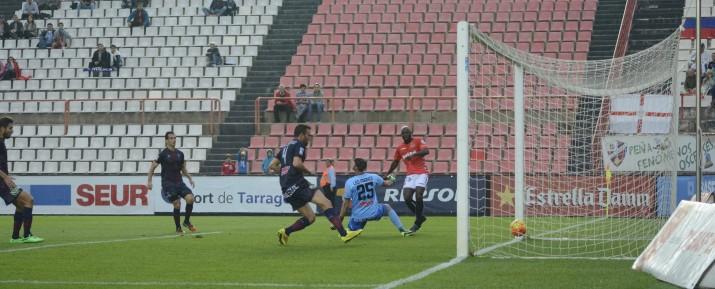 Emana ha fet el seu primer gol amb la samarreta del Nàstic. Nàstic 2 -SD Huesca 0.  Foto:Nàstic