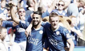 Vardy i Mahrez letals amb el Leicester de Ranieri entre els dos sumen vint-i-cin gols amb els blues. Foto:Vavel