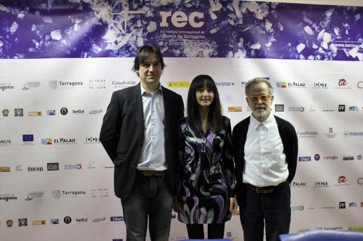 El director del REC, Xavier Garcia Puerto, amb Maria de Medeiros i Fernando Colomo (foto: REC)