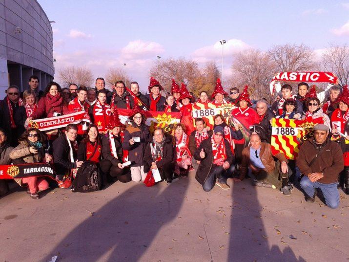 L'afició del Nàstic va acompanyar a l'equip a Leganés Foto:Rafael Sierra