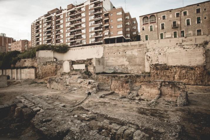 Imatge actual del teatre romà, a la part baixa de la ciutat (foto: DAVID OLIETE)