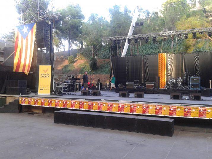 El 5 de setembre, el Camp de Mart va acollir un dels actes més multidunaris a Tarragona organitzat per l'ANC i Òmnium (foto: Fet a Tarragona)