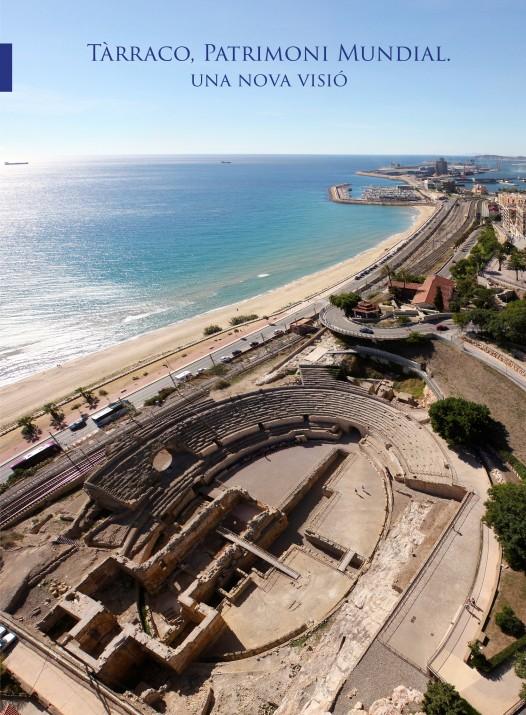 Imatge aèria que il·lustra la coberta del col·leccionable 'Tarraco. Patrimoni Mundial: una nova visió' que es distribuirà amb el FET a TARRAGONA  a partir del gener.