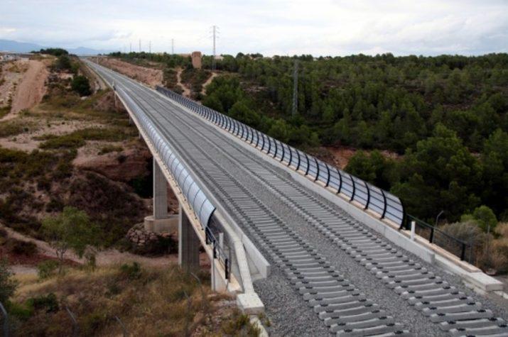 Obres del Corredor Mediterrani al Baix Camp, una de les infraestructures que és competència de l'Estat (foto: ACN)