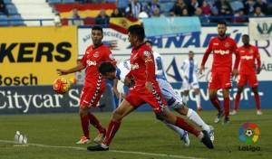 """Iago Bouzon va quedar """"retratat"""" amb l'errada del gol. Foto: La Liga"""