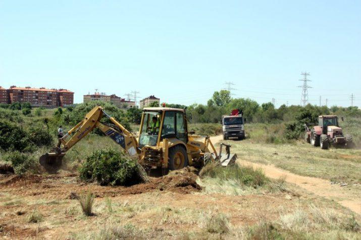 Moviment de terres a la futura Anella Mediterrània, l'any passat (foto: DIARI DE TARRAGONA)