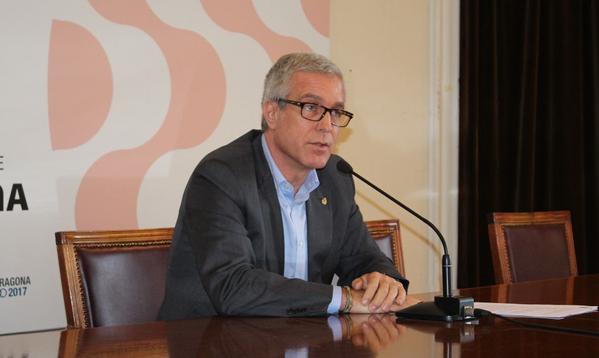 L'alcalde Ballesteros, aquest divendres, un cop sabut que el citen a declarar com a 'investigat' al cas Inipro (foto: Ajuntament de Tarragona)