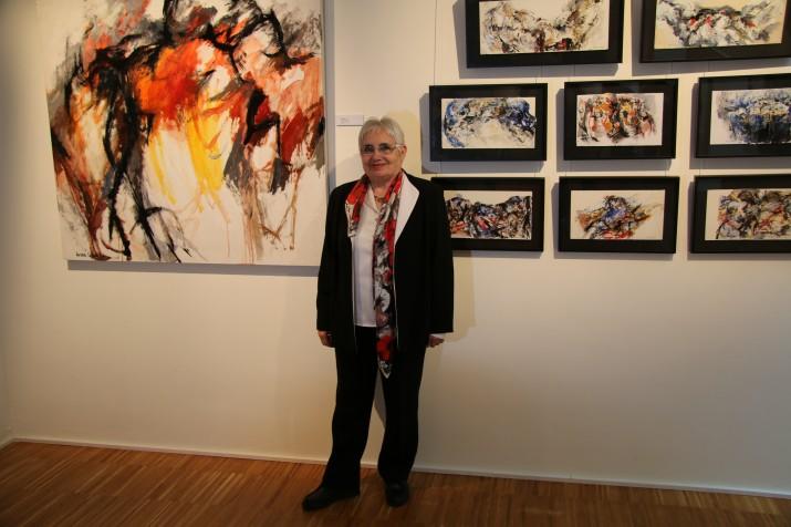 Valero pinta peces abstractes o figuratives (foto: Gerard Boshc)