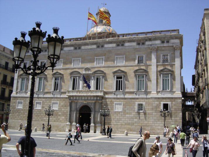 Plaça de Sant Jaume, amb el Palau de la Generalitat (foto: cedida)