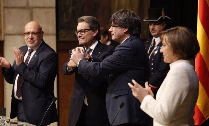 Presa de possessió de Carles Puigdemont com a president de la Generalitat (foto: Nació Digital)