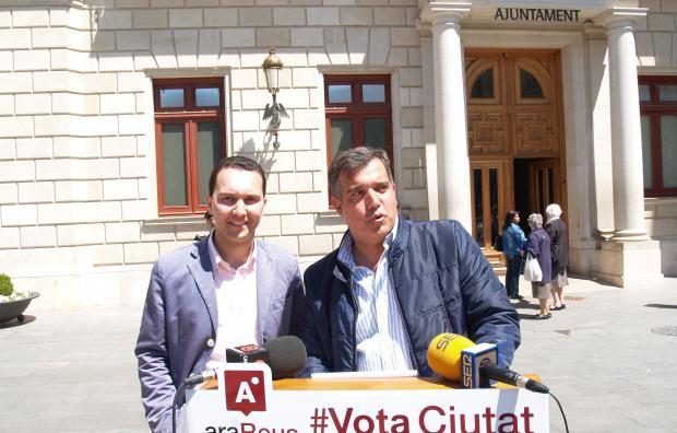 Dani Rubio i Jordi Cervera, regidors d'Ara Reus (foto: cedida)