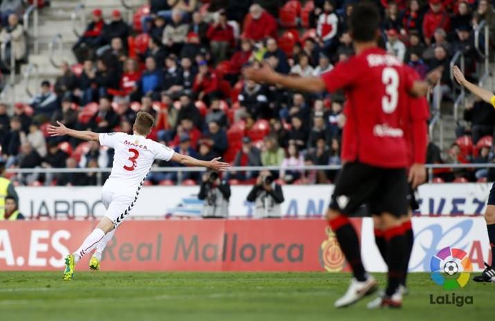 Mossa celebra el que era el 0 a 1 i el seu primer gol. Foto:La Liga
