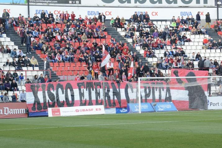 """Des del gol de muntanya han felicitat a """"l'etern capità"""" Xisco Campos. Foto:Nàstic"""