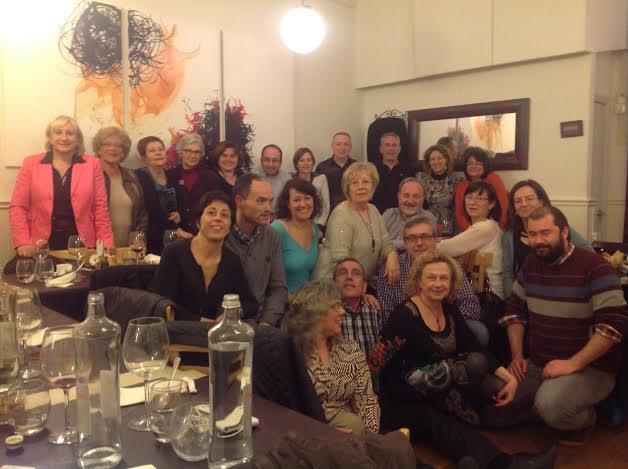 Muriel Casals, amb socis d'Òmnium i membres de l'ANC a Tarragona (foto: cedida)