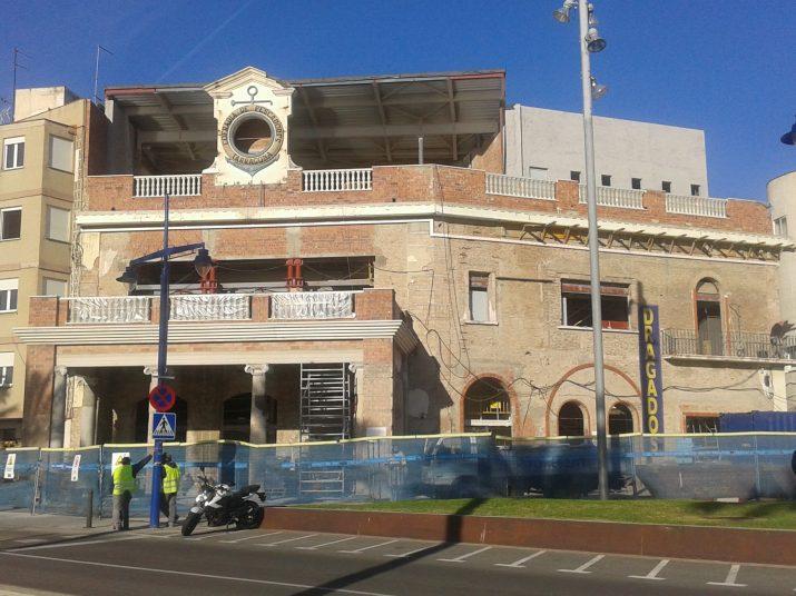 Estat actual de les obres de remodelació de l'antic pòsit de pescadors del Serrallo (foto: Fet a Tarragona)