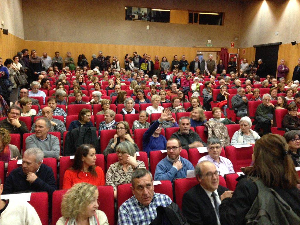 L'antiga audiència, plena de gent. (Foto: Delegació del Govern)