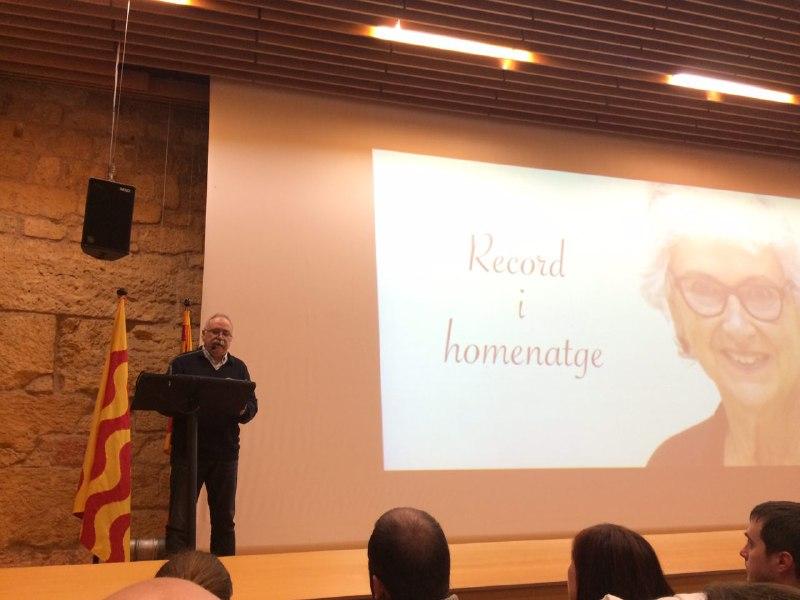 Josep-Lluís Carod-Rovira ha glossat la vida de Muriel Casals. (Foto: Gerard Recasens)