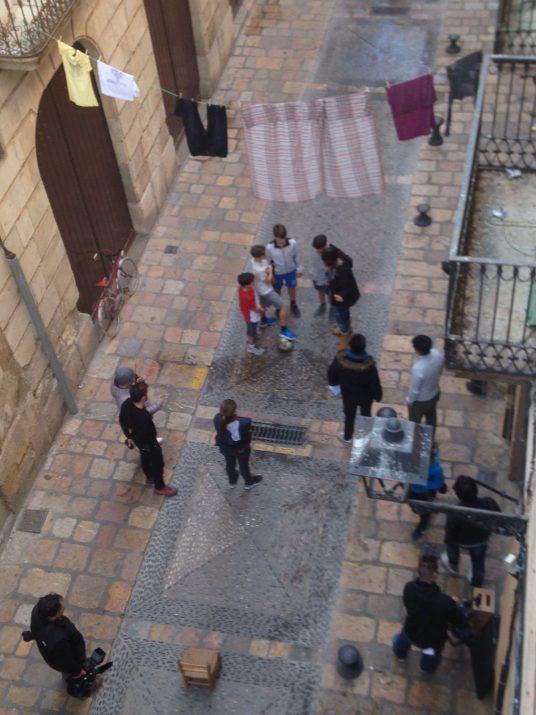 Rodatge al carrer d'en Granada aquest diumenge