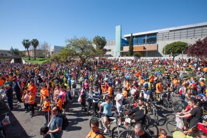 Imatge d'una edició anterior de la Bicicletada, a l'avinguda Vidal i Barraquer