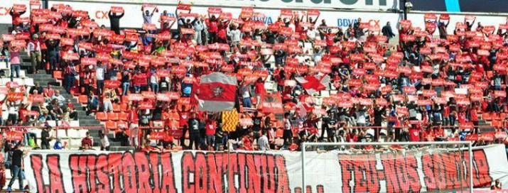 El Gol de Muntanya es va omplir per veure el Nàstic Oviedo. Foto:Nàstic