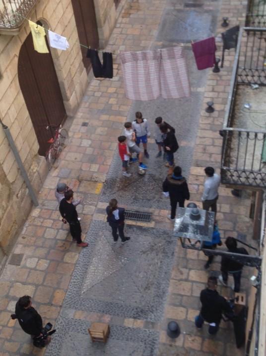 Moment de l'enregistrament de l'anunci de kIA al carrer Granada de la Part Alta el passat mes de març. Foto: FET a TARRAGONA