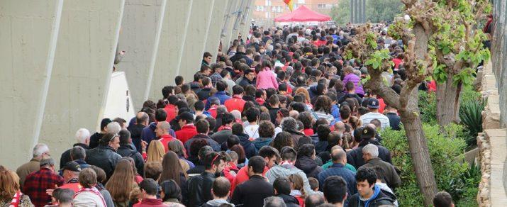 La gent ha tornat al Nou Estadi. 10.227 espectadors van veure en directe el Nàstic 4- Córdoba 4. Foto: Fermín Serrano