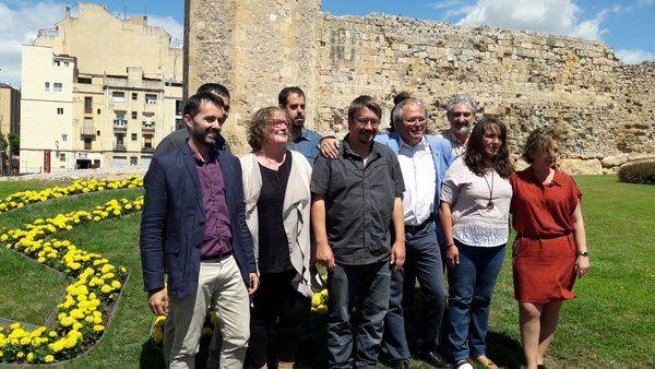 Candidatura d'En Comú Podem a Tarragona, que ha guanyat les eleccions d'aquest diumenge a la demarcació i a Catalunya