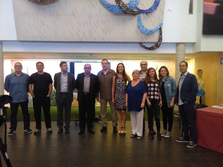 Presentació del Festival d'Estiu de Tarragona 2016 amb Josep M. Prats i alguns dels col·laboradors i promotors. Foto: MAURI