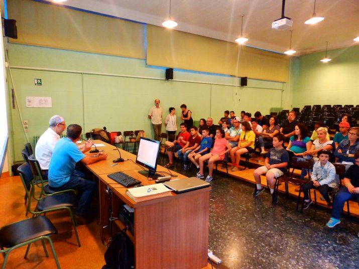 Sala d'actes on es va fer l'entrega de diplomes a tots els alumnes participants dels projecte. Foto: Camp d'Aprenentatge