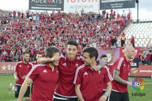 Osasuna després de la victòria per 2 a 3 jugarà l'eliminatòria definitiva davant del Girona. Foto: La Liga