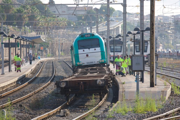 Un tren de mercaderies va descarrilar aquest dimecres a l'estació de Tarragona. Foto: TJERK-DER-MEULEN