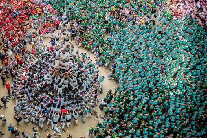 Una de les construccions aixecades a la TAP en la darrera edició del Concurs, enmig de l'expectació de milers de persones, serà la imatge portada del número 19 del FET a TARRAGONA. Foto: DAVID OLIETE