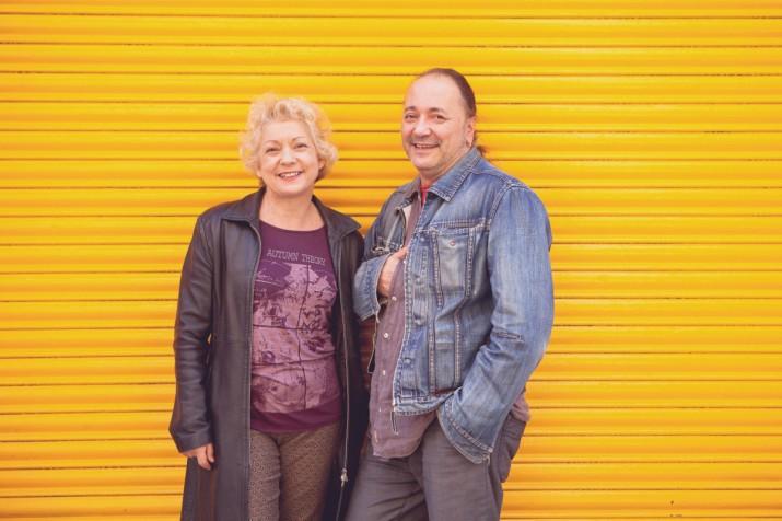 Ramon Simó i Magda Puyo, el passat hivern a la Part Alta de Tarragona. Foto: AITOR POMBO