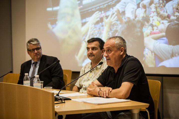 D'esquerra a dreta: Jordi Agràs, director territorial de Cultura de la Generalitat de Catalunya; Ricard Lahoz, director del Fet a Tarragona; i Xavier Gonzàlez, director del Concurs.
