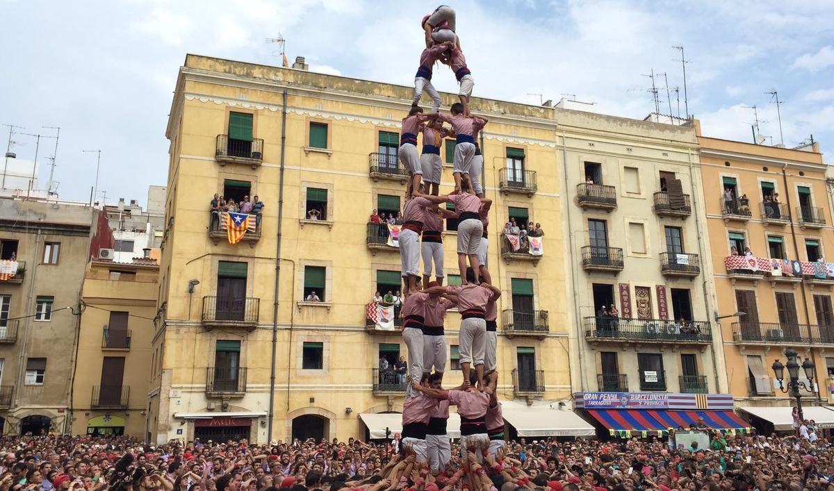 4 de 8 dels Xiquets de Tarragona (Foto: Santa Tecla TGN)