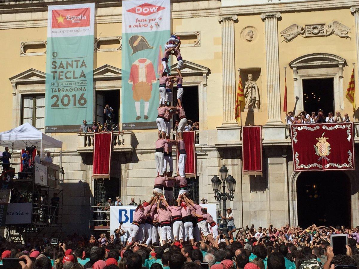 3 de 9 amb folre descarregat pels Xiquets de Tarragona (Foto: Santa Tecla TGN)
