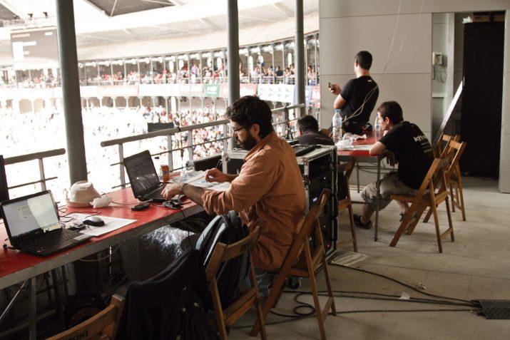 David Barceló, en plena feina a l'edició del Concurs del 2014 a la TAP. Foto: DAVID OLIETE.