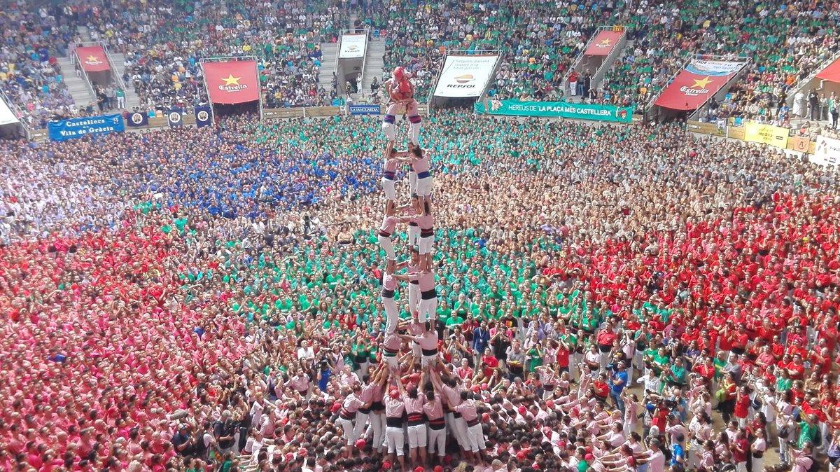 3 de 9 amb folre dels Xiquets de Tarragona. (Foto: Concurs de Castells)