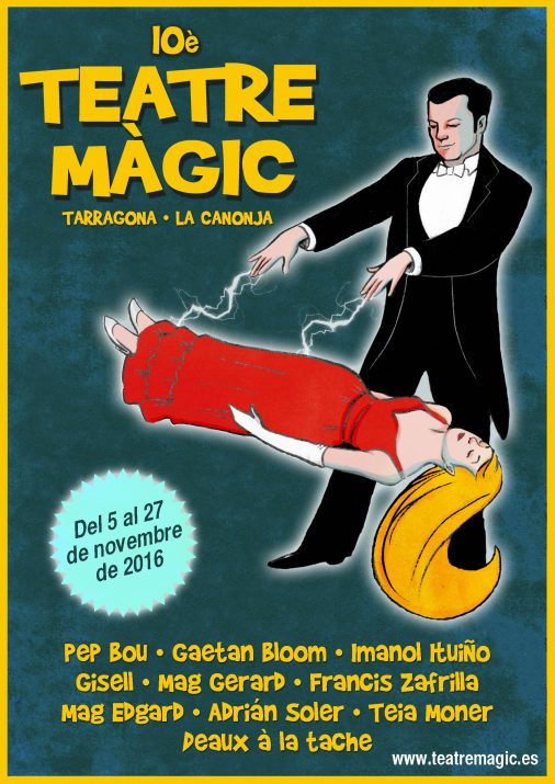 Cartell de la desena edició del Festival Teatre Màgic