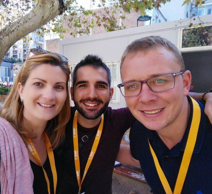 D'esquerra a dreta: Raquel Sans, Albert Mercadé i Paco Montoya, abans de l'inici del Concurs 2016. Foto: RAQUEL SANS