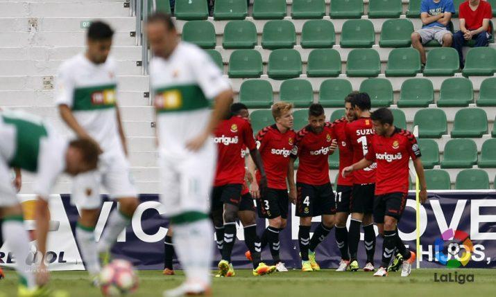 Els grana celebren el primer gol del partit. Foto: LaLiga